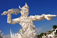 A Gaurdian of the White Temple in Chiang-Rai